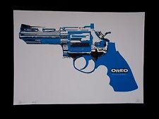 "Serigraphie Originale Death NYC  "" Oreo Blue  Gun ""  , Tirage 100 Ex ,  signée"