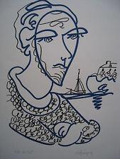 LAPICQUE Charles - Lithographie lithograph signée EA mon frère Yves 1960 **