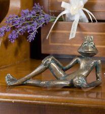 Bronzefigur Froschkönig Eugen L15cm   Bronze Gartenfigur Skulptur Rottenecker