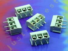 Stk.5 x KLEMMLEISTE / TERMINAL BLOCK 3 polig / way 16A Platine PCB #A734
