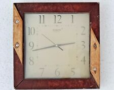 Vintage Old Wooden Fitted Wall Hanging Wall Watch/ Clock Working Condition