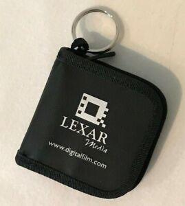 Zippered Keychain Media Storage Case Lexar SD MMC SDHC SDXC Memory Card Stick