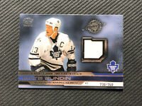 2001-02 PACIFIC MATS SUNDIN AUTHENTIC GAME-WORN JERSEY #ed 738/760