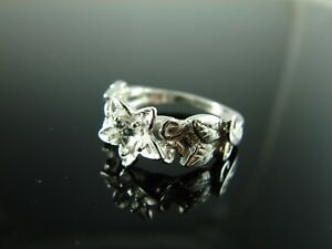 6183 Ring Setting Sterling Silver Size 7.25, 4.5mm Round Gemstone