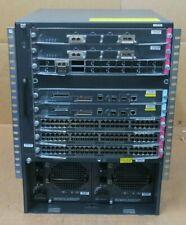 Cisco WS-C6509-E + WS-SUP720-3B + WS-X6748-GE-TX + WS-X6716-10GE + WS-X6704-10GE