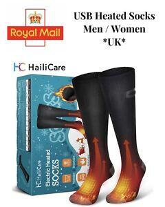 Heated Socks Electric Boot Feet Warmer USB Rechargable 4000 Mah Battery Unisex L