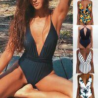 Sommer Frauen Monokini Badeanzug  Rückenfreier Body Brazilian Swimming Beach JO