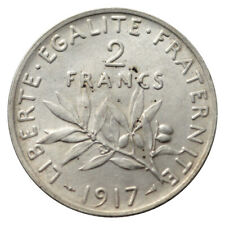FRANCE FRANKREICH 2 FRANC SILVER KM 845 1917