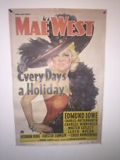 """Every Day's A Holiday"" 1960's Movie Poster - Mae West - 19X29"""