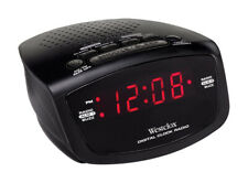 Westclox  Black  AM/FM Clock Radio  Digital  Plug-In