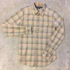 Ralph Lauren Sport Bebé Rosa/Gris ajustados Tartán Ls Shirt (S)
