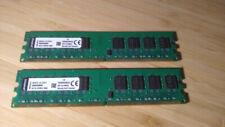 New listing 🇨🇦 Kingston ValueRam 4 Gb (2 sticks by 2Gb ea) Dimm 800 Mhz Ddr2 Memory 🇨🇦