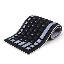 Portable USB Foldable Keyboard Waterproof Flexible Silicone Soft Rubber PC / Lap