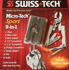 New Swiss+Tech Micro Tech Sport 9 In 1 Keychain Multitool
