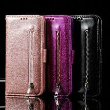 For Samsung S20 FE Note20 Ultra S10 Plus S9 S8 Glitter Case Leather Wallet Cover