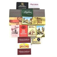 Lot of 16 Vintage Matchboxes American Ace Diamond Pageant Sudek Hotels Resorts