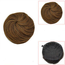 Pretty Girls Human Hair Bun Cover Hairpiece Clip in Hair Extensions Ponytail