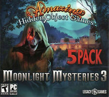 MOONLIGHT MYSTERIES 3 Amazing Hidden Object Games 5 PACK PC Game NEW