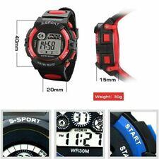 Reloj pulsera nuevo deportivo digital LED Luz Fecha Alarma De Varios Niños Niño Niñas Regalo