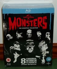 UNIVERSAL MONSTERS THE ESSENTIAL COLLECTION 8 BLU-RAY NUEVO PRECINTADO TERROR R2