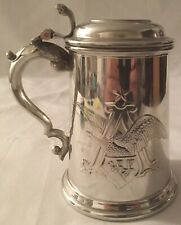 Anhauser-Busch Limited Edition Numbered 2004 A & Eagle Lidded Pewter Stein Cs603