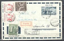 Poland 1953 - Seaport - Fi Ck 17 - postal stationery cover - used