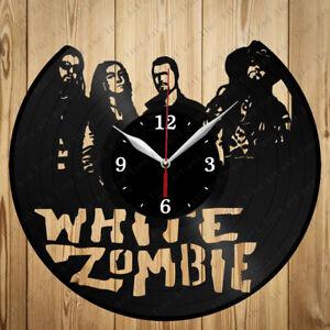 Vinyl Clock White Zombie Vinyl Record Clock Handmade Original Gift 6850