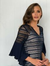 Gorgeous Dress Size 14 NAVY cocktails Party Birthday Engagement Work Church Love