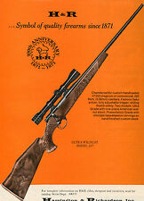 1971 Print Ad of Harrington & Richardson H&R Ultra Wildcat Model 317 Rifle