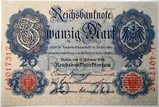 Germany , 20 Mark 1914 ,  Rosenberg 47b ,  UNC