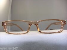 NEW SOHO 56 RX READY BROWN CRYSTAL RECTANGULAR EYEGLASS FRAME