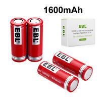 4 Pcs 1600mAh 18500 Li-ion Rechargeable Battery INR 3.7V For Flashlight Toys Mic