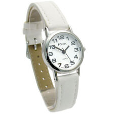 Ravel Ladies Super-Clear Easy Read Quartz Watch White Strap R0105.13.4LA