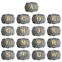 Men Vintage Initial Letters Rodeo Zinc Alloy Western Style Cowboy Belt Buckle UE