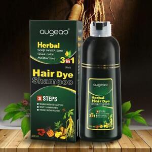 Natural 6 Colors Permanent Hair Color Shampoo Long Dye Lasting 500ml