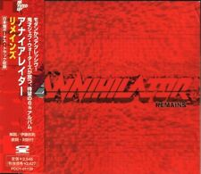 "ANNIHILATOR ""Remains"" CD import japan w/obi 1997 Pony Canyon ‎PCCY-01139"