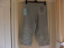 Lovely Pair of ZEPLA Three Quarter Trousers with Embroidery - Size 10 - BNWT