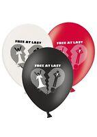 "Divorce - Free at Last - 12"" Printed Latex Balloons Assorted Happy Bride - 8 ct"