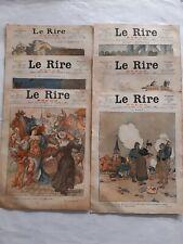 """6 revues anciennes 1916 """"Le Rire Rouge"""" N°60 à 65"""