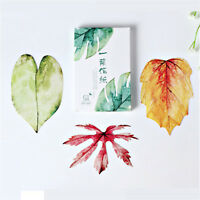 30PC/Set Greeting Card Leaves Shape Painting Post Card Gift Craft Message Cards