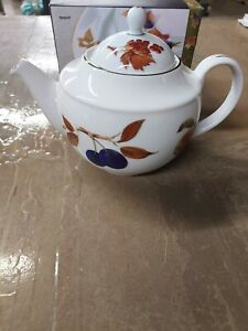 Royal Worcester Crown WareLarge Tea PotMilkCream JugSugar BowlTeabagSpoon BowlVintage1960s