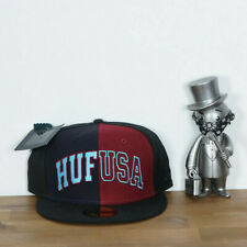Huf worldwide Skate shoes cap hat NEW ERA Rival black 7 1/2