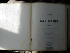 partition Paul Henrion, Album 1951 romances, mélodies ou chansonnettes