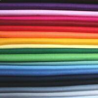 Solid Plain Fabric 1 METRE Klona 100% Cotton Extra wide 135cm x 100cm.