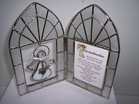 "Stained Glass Cherished Charmer Frames with a Charmer Angel, ""Grandmother"""