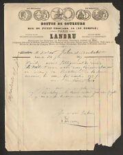 """PARIS (III°) MATERIEL pour PEINTRE / COULEURS PASTILLES au MIEL """"LANDRU"""" en 1867"""