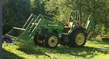 2004 5520 John Deere Tractor With Front Loader Back Hoe Self Levelers
