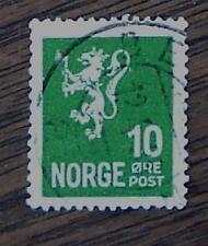 Nice Vintage Used Norge 10 Stamp, Good Cond - 1940's