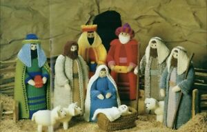 Xmas Nativity Scene Toy KNITTING PATTERN. Double Knitting. Christmas,Mary,sheep.