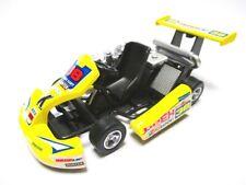 Go Kart Go-Kart Renncart Metal Diecast Model Yellow 1:18?? New